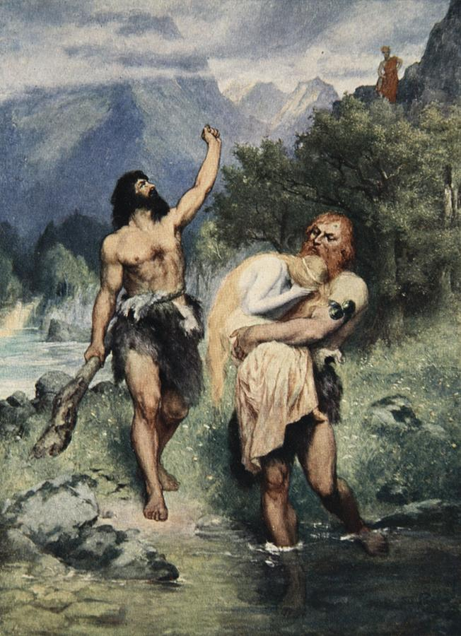 Viking Drawing - The Giants Bore Freia Away, From The by Ferdinand Leeke