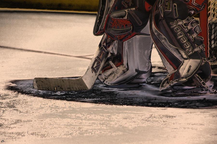 Hockey Photograph - The Goalies Crease by Karol Livote