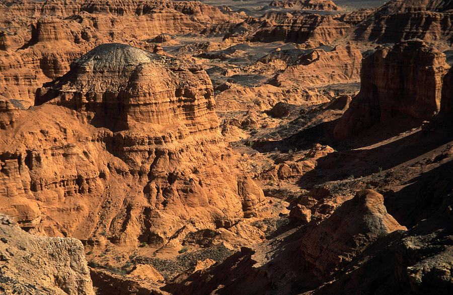Asia; Asian; Central Asia; Desert; Deserts; Landscape; Nature; Nobody; Outdoors; Outside; Rocks; Rocky; Sandy Desert Photograph - The Gobi by Anonymous