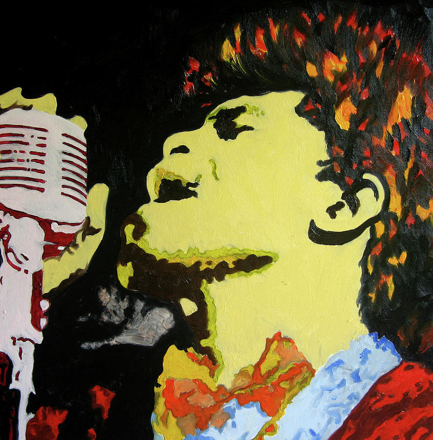 The God Father Of Soul James Brown Painting