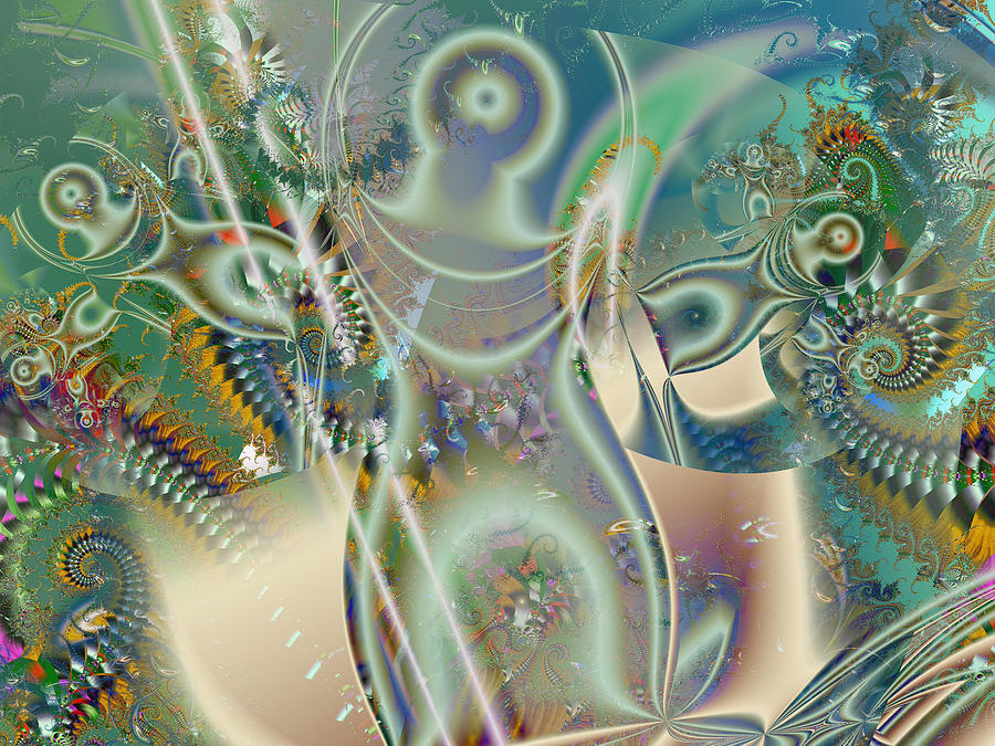 The Goddess Digital Art  - The Goddess Fine Art Print