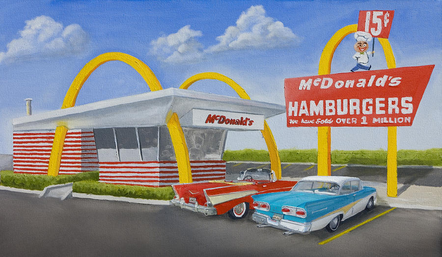 The Golden Age Of The Golden Arches Painting  - The Golden Age Of The Golden Arches Fine Art Print