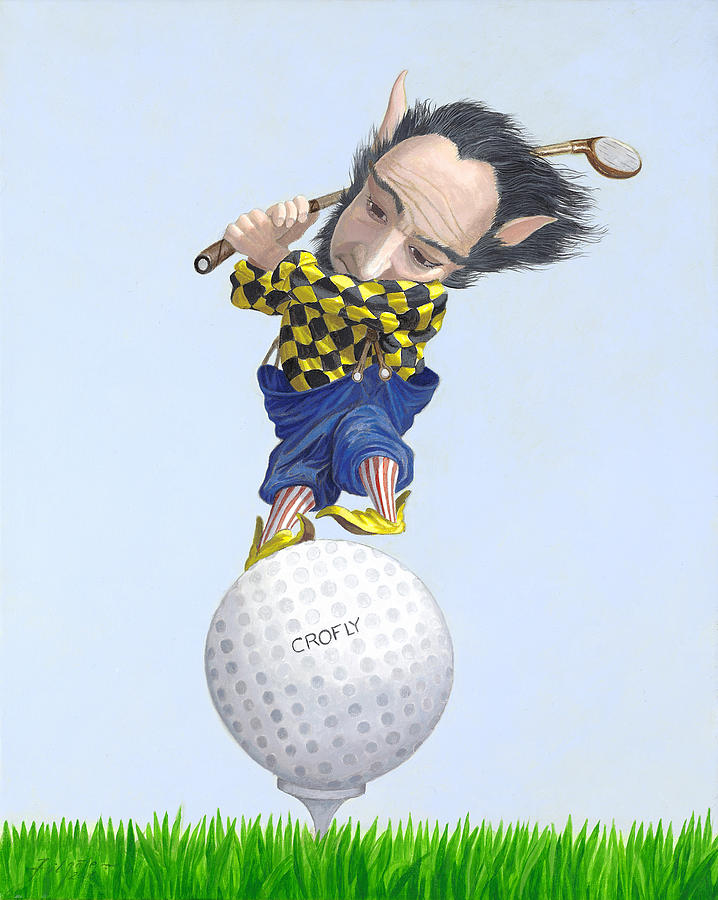 The Golfer Painting