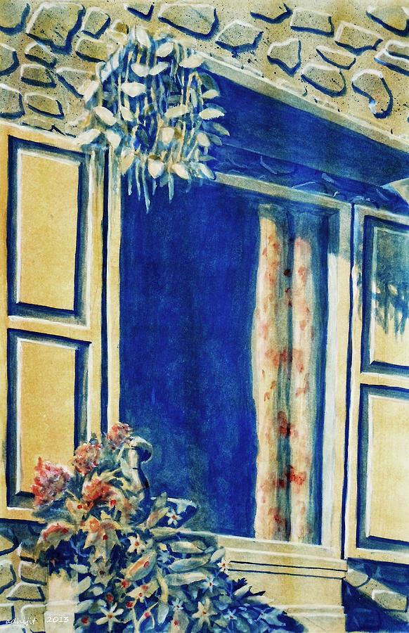 Window Painting - The Good Morning Window by Adhijit Bhakta