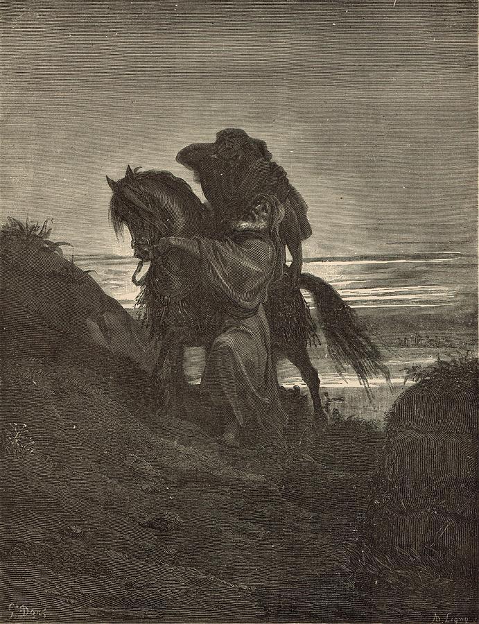 Biblical Drawing - The Good Samaritan by Antique Engravings