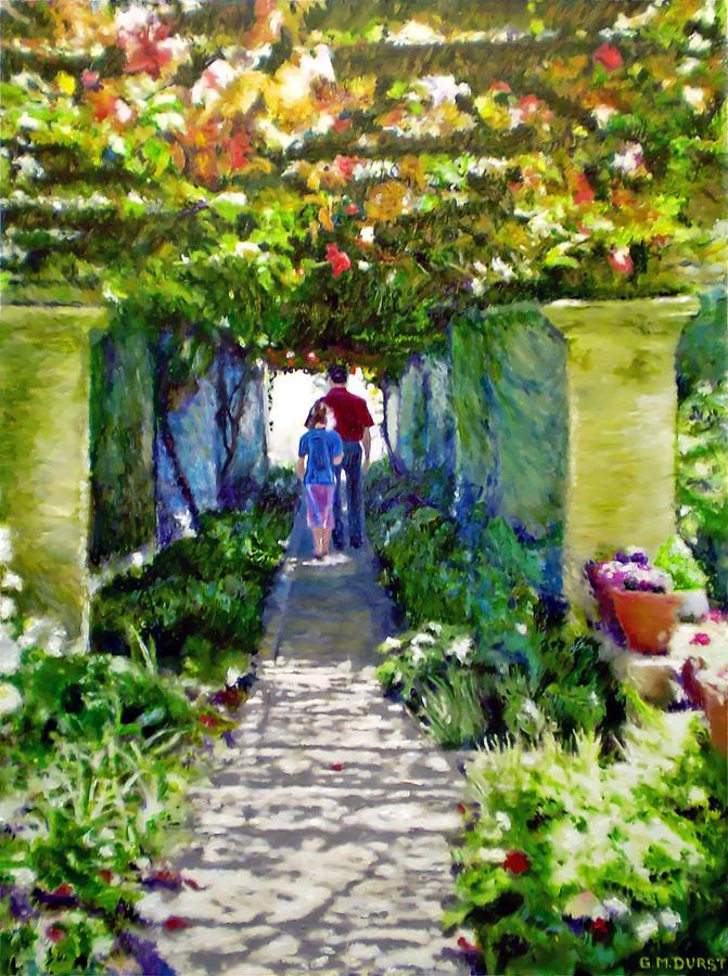 The Grape Trellis Painting
