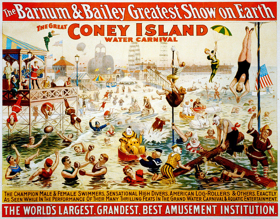 The Great Coney Island Water Carnival Digital Art