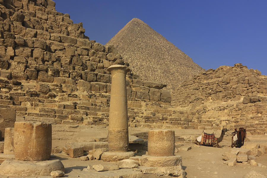 The Great Pyramids Giza Egypt  Photograph  - The Great Pyramids Giza Egypt  Fine Art Print