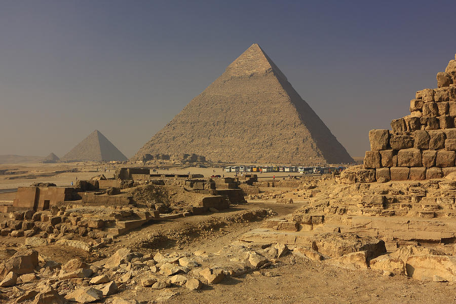 The Great Pyramids Of Giza Egypt  Photograph