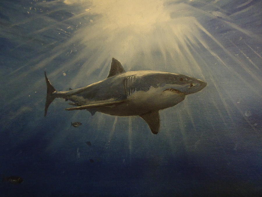 The Great White King Of The Seas Painting