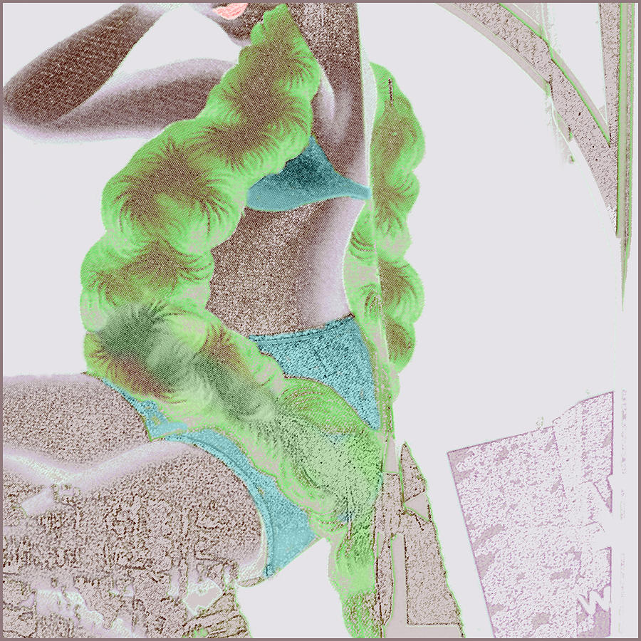The Green Boa Drawing  - The Green Boa Fine Art Print