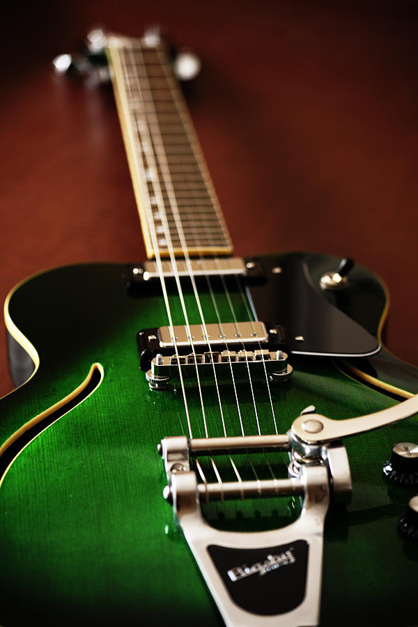 Music Photograph - The Green One by Karol Livote
