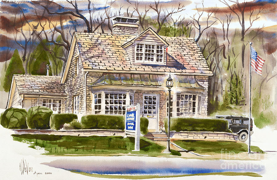 The Greystone Inn In Brigadoon Painting  - The Greystone Inn In Brigadoon Fine Art Print