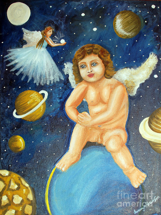 The Guardian Angels Of The Universe Painting