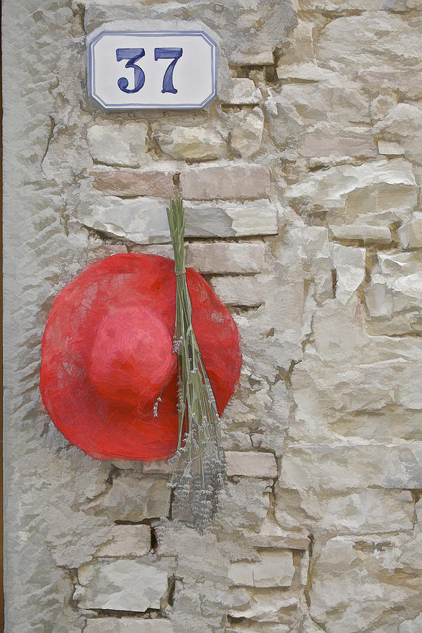 Europe Photograph - The Hanging Red Hat by David Letts