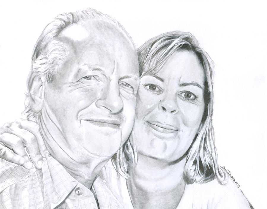 Couple Drawing - The Happy Couple by Ana Tirolese