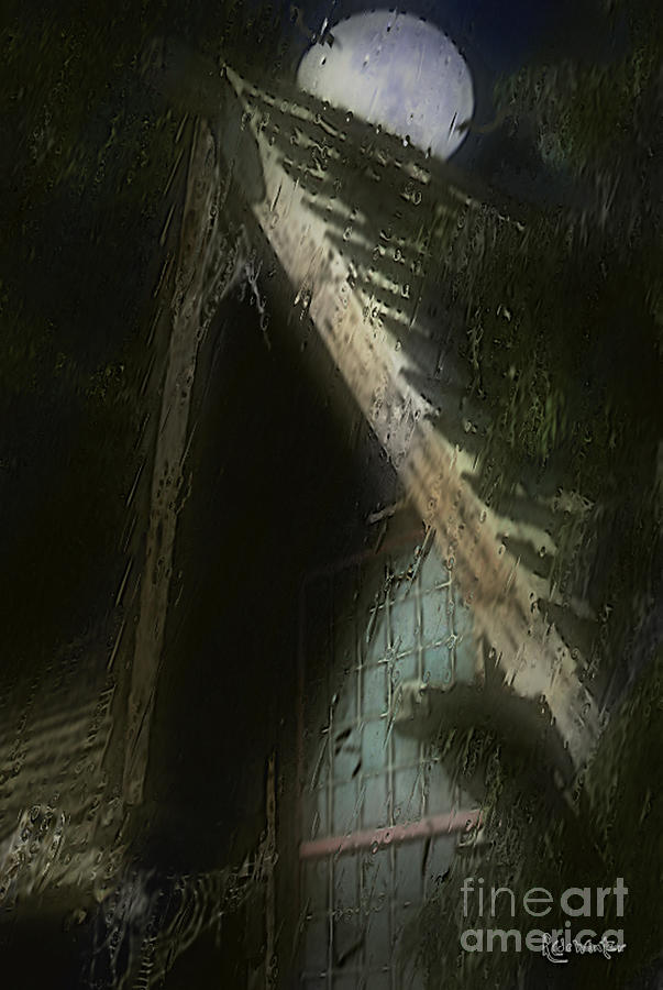 House Painting - The Haunted Gable by RC DeWinter