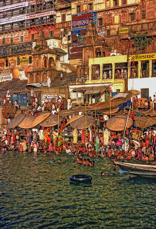 Varanasi Photograph - The Holy Ganges by Steve Harrington