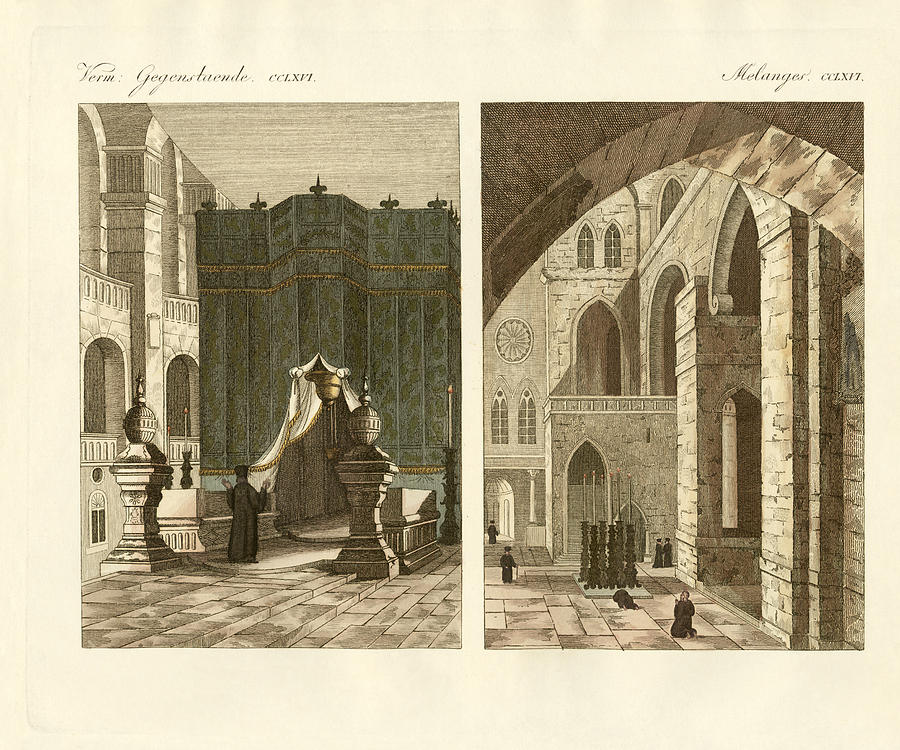 Bertuch Drawing - The Holy Sepulcher Of Jerusalem by Splendid Art Prints