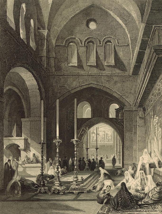 The Holy Sepulchre 1886 Engraving Painting
