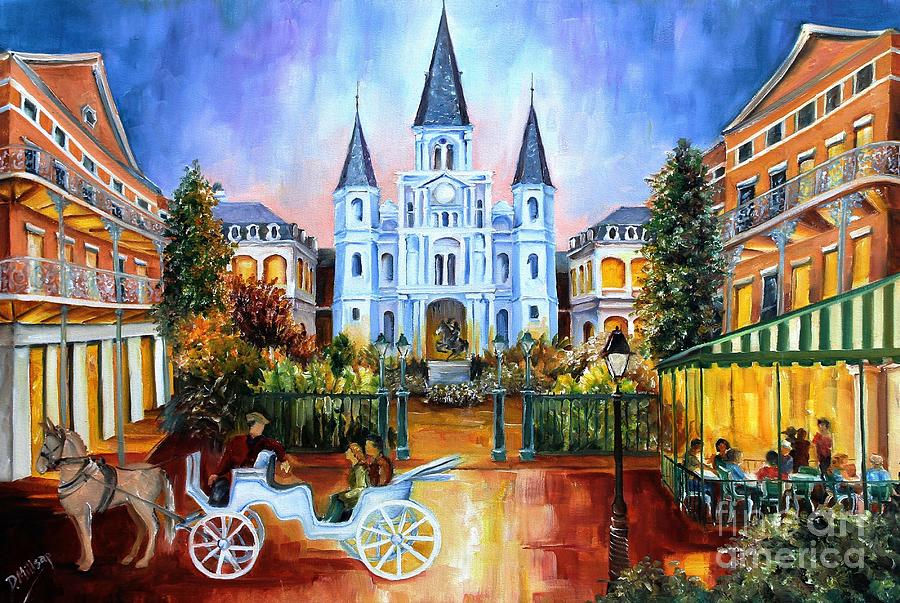 The Hours On Jackson Square Painting  - The Hours On Jackson Square Fine Art Print