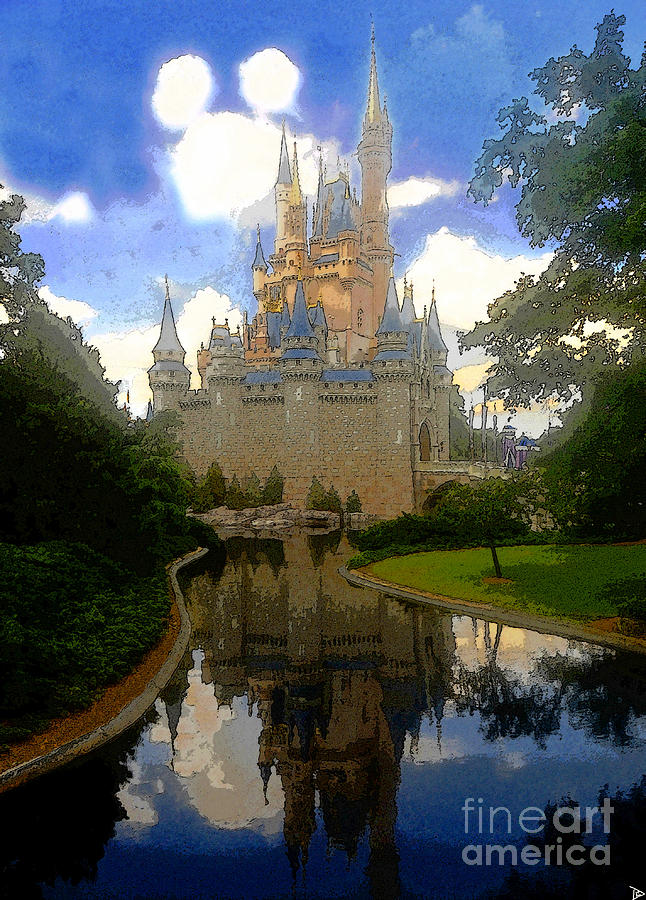 The House Of Cinderella Painting  - The House Of Cinderella Fine Art Print