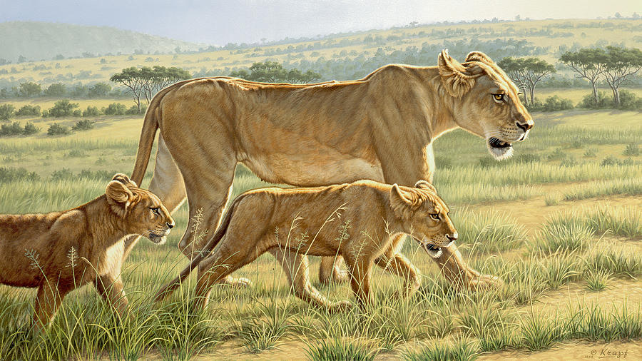 The Hunting Lesson Painting