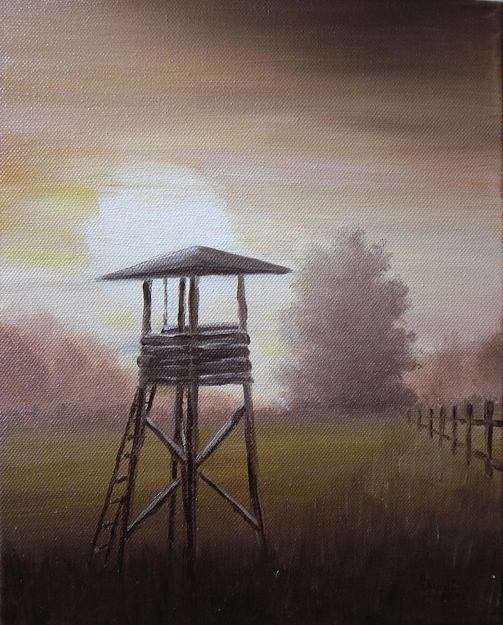 The Hunting Lodge In The Field Painting