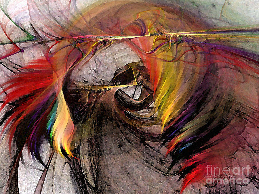 The Huntress-abstract Art Digital Art