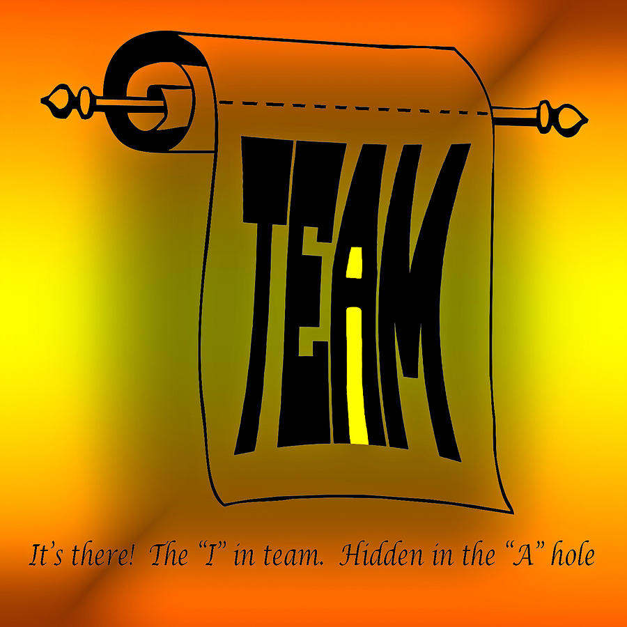 The I In Team Photograph  - The I In Team Fine Art Print