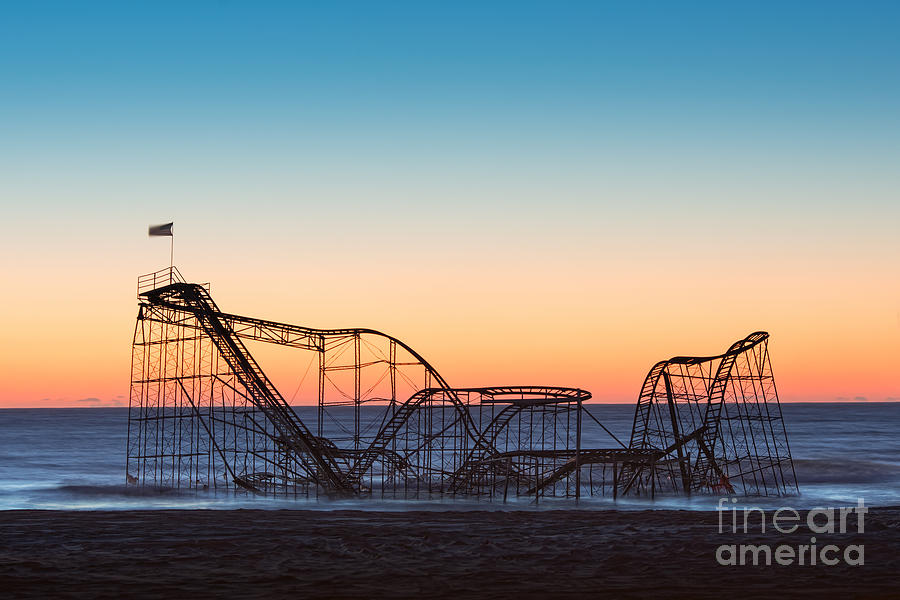 The Iconic Star Jet Roller Coaster Photograph  - The Iconic Star Jet Roller Coaster Fine Art Print