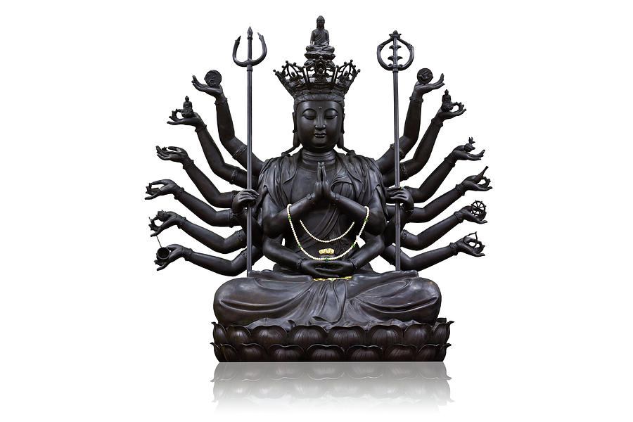 The Images Of Guanyin Black Photograph  - The Images Of Guanyin Black Fine Art Print