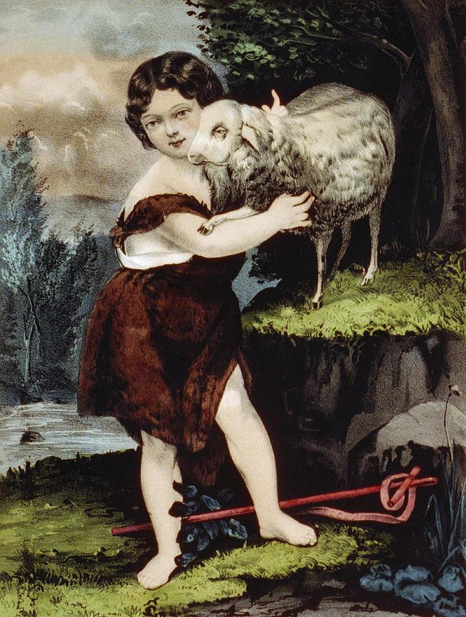 Infant Painting - The Infant Saint John by Aged Pixel