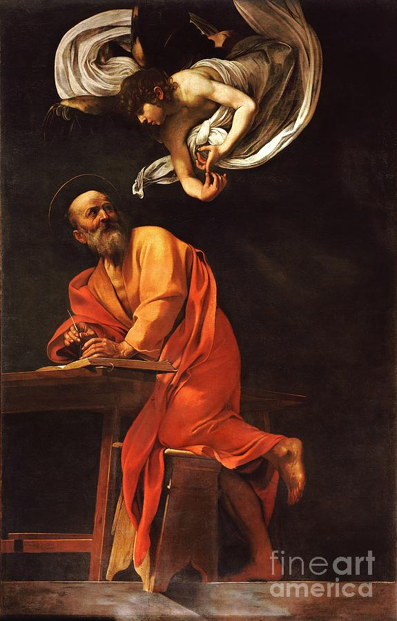 The Inspiration Of Saint Matthew Painting
