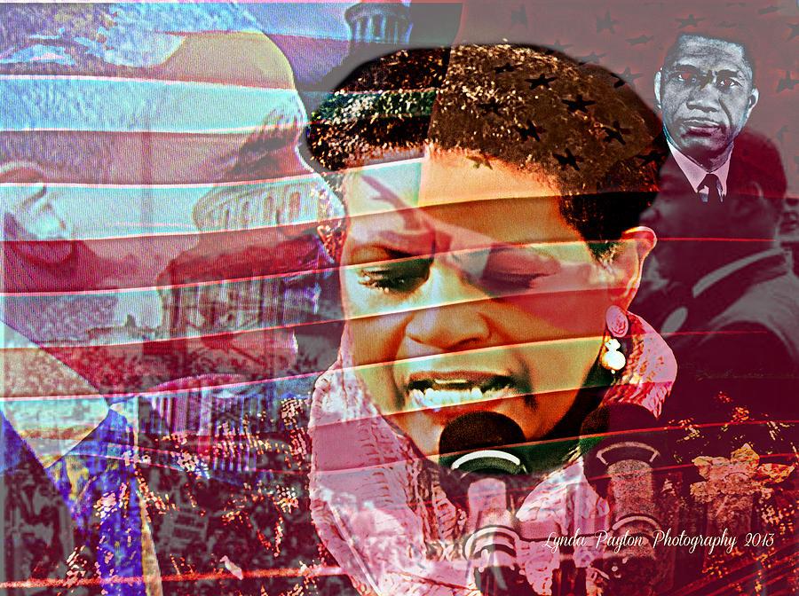 Barack Obama Digital Art - The Invocation by Lynda Payton