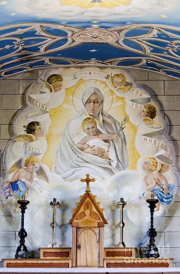 The Italian Chapel Mural Lamb Holm Orkney  Photograph