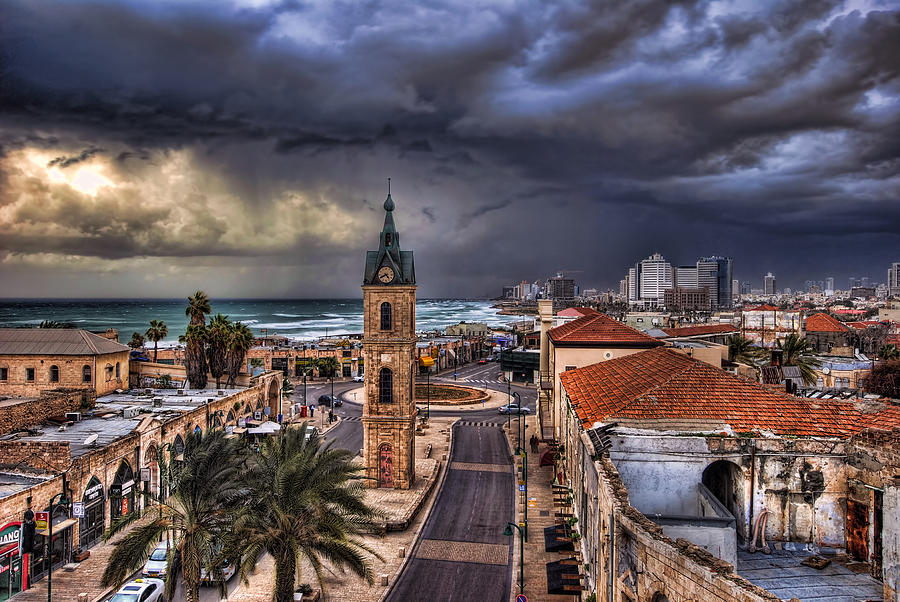 the Jaffa old clock tower Photograph  - the Jaffa old clock tower Fine Art Print