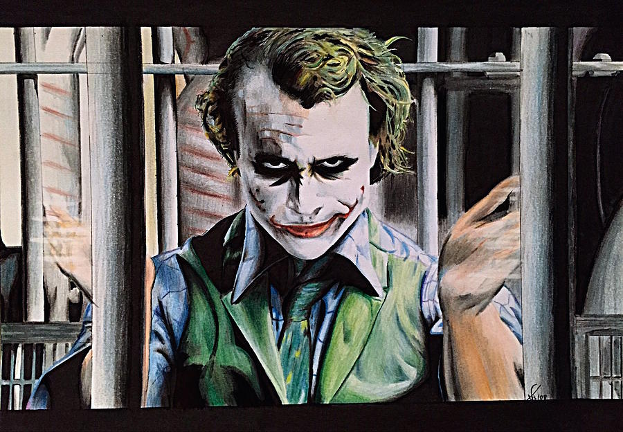 The Joker Drawing  - The Joker Fine Art Print