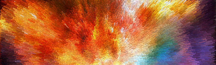 Sharon Cummings Painting - The Journey - Abstract Art By Sharon Cummings by Sharon Cummings