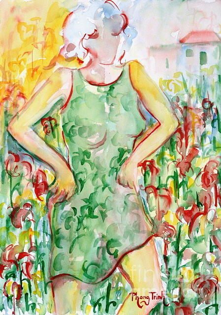 All Painting - The Joy Of Gardening by Phong Trinh