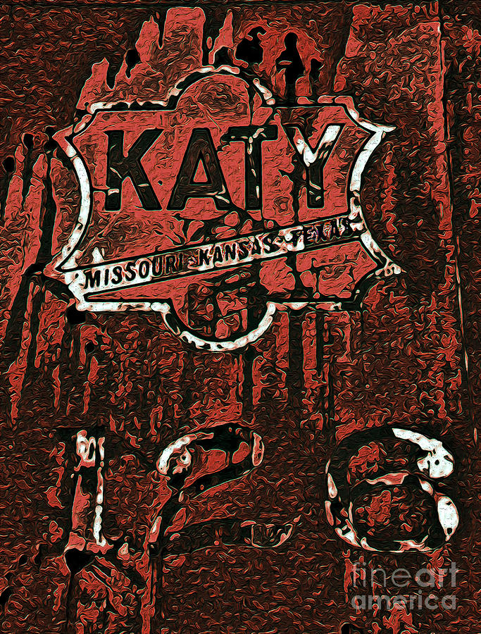 The K A T Y Railroad Sign Photograph