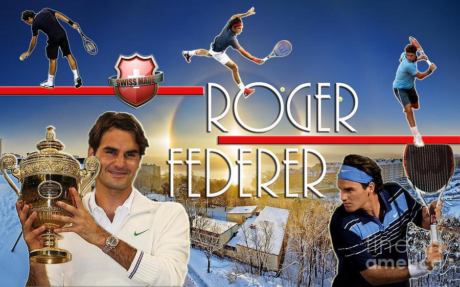 The King Roger Federer Digital Art