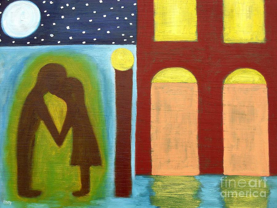 The Kiss Goodnight Painting  - The Kiss Goodnight Fine Art Print