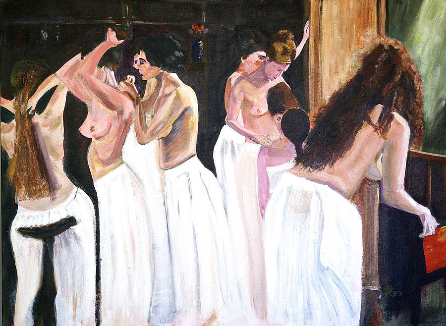 The Ladies Of The House Painting  - The Ladies Of The House Fine Art Print