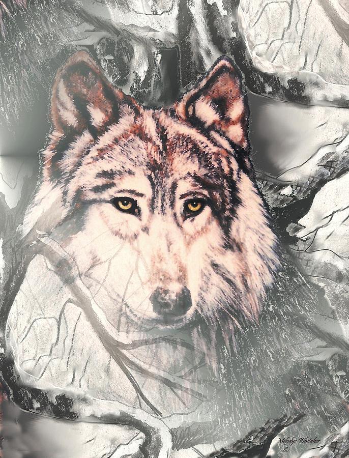 Wolf Digital Art - The Lair by Melodye Whitaker