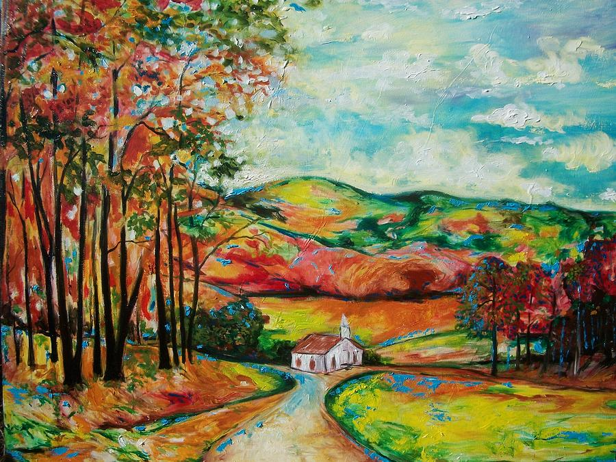 Emery Franklin Painting - The Landscape I Love by Emery Franklin