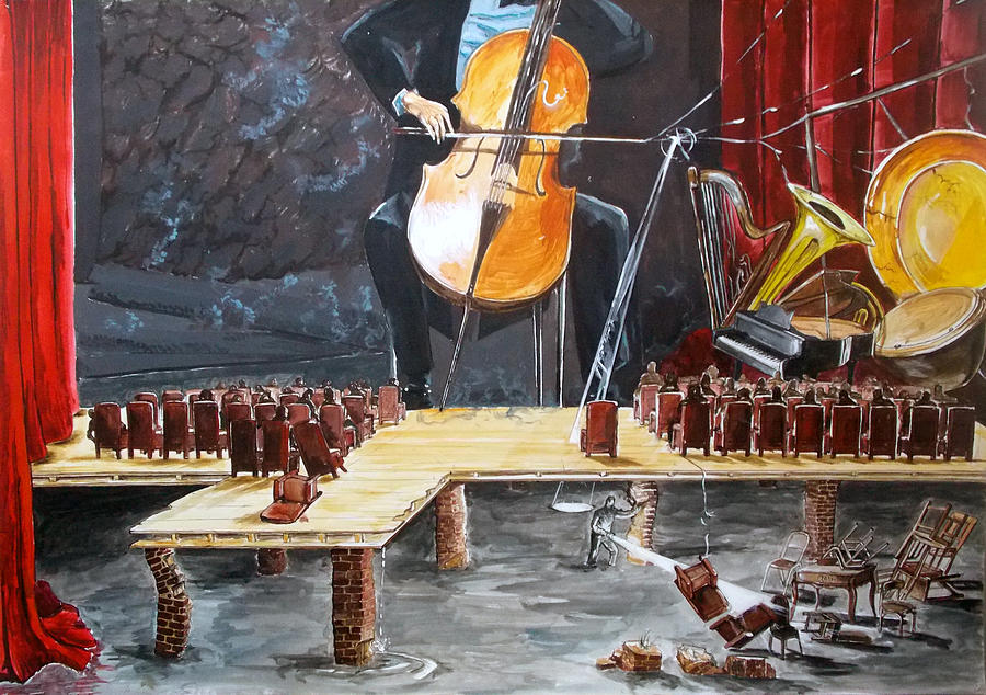 The Last Concert Listen With Music Of The Description Box Painting  - The Last Concert Listen With Music Of The Description Box Fine Art Print