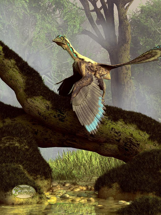 Archaeopteryx Digital Art - The Last Dinosaur by Daniel Eskridge