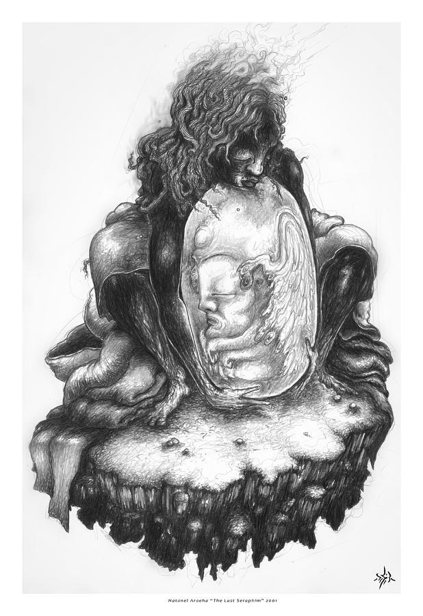 Seraphim Drawing - The Last Seraphim by Natanel Araeha