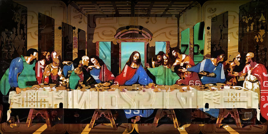 The Last Supper By Leonardo Da Vinci Recreated In Recycled ... Da Vinci Last Supper High Resolution